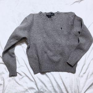 Ralph Lauren Gray Crewneck Wool Sweater